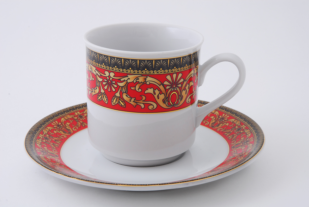 Фото Набор чашек кофейных с блюдцем 150 мл, 6 шт Форма Сабина Милан