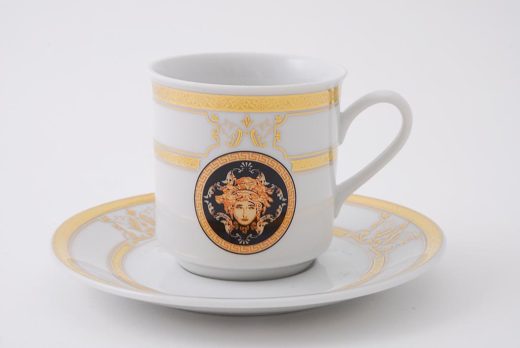 Фото Набор чашек кофейных с блюдцем 150 мл, 6 шт Форма Сабина Венеция антик