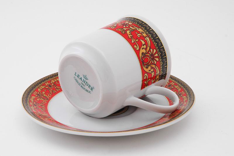 Фото Набор чашек кофейных с блюдцем 150 мл, 6 шт Форма Сабина Милан антик
