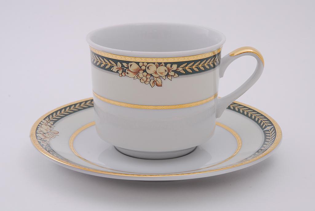 Фото Набор чашек высоких с блюдцем 200 мл, 6 шт Форма Сабина Фруктовый сад