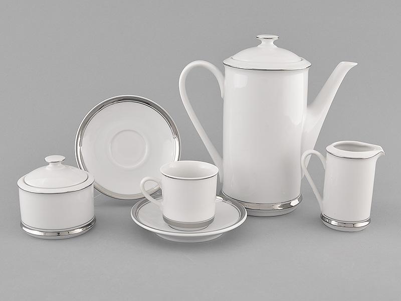 Фото Сервиз кофейный 15 предметов на 6 персон, чашки 100 мл, форма Сабина Айсберг