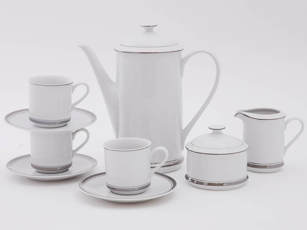 Фото Сервиз кофейный Леандер 15 предметов на 6 персон, чашки 150 мл, Форма Сабина Айсберг