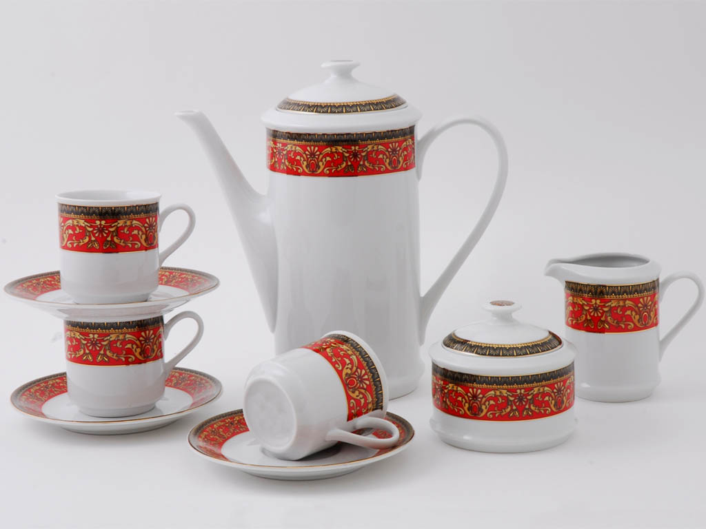 Фото Сервиз кофейный Леандер 15 предметов на 6 персон, чашки 150 мл, Форма Сабина Милан