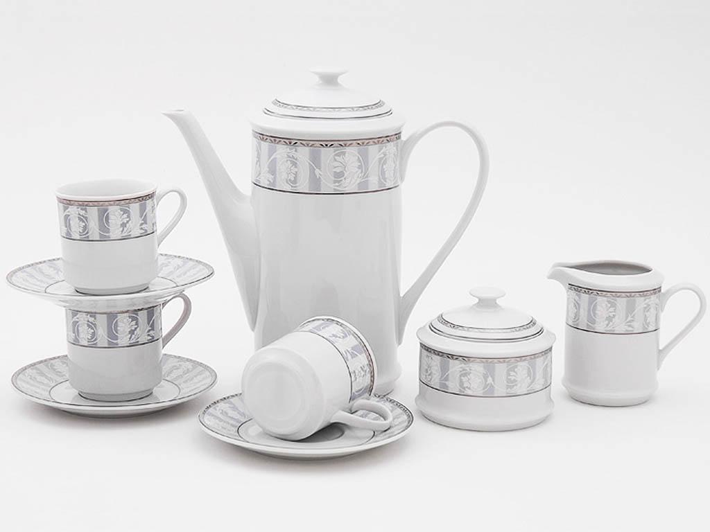 Фото Сервиз кофейный Леандер 15 предметов на 6 персон, чашки 150 мл, Форма Сабина Уэльс