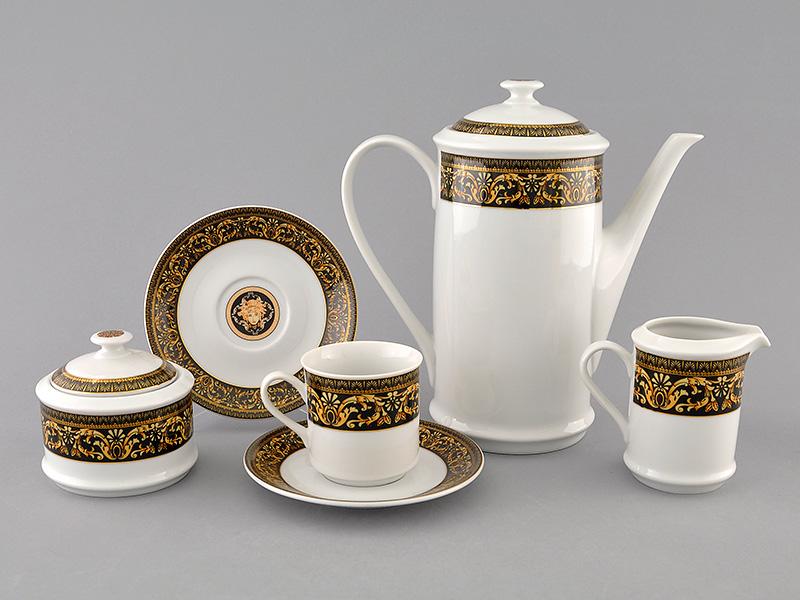 Фото Сервиз кофейный Леандер 15 предметов на 6 персон, чашки 150 мл, Форма Сабина Флоренция антик