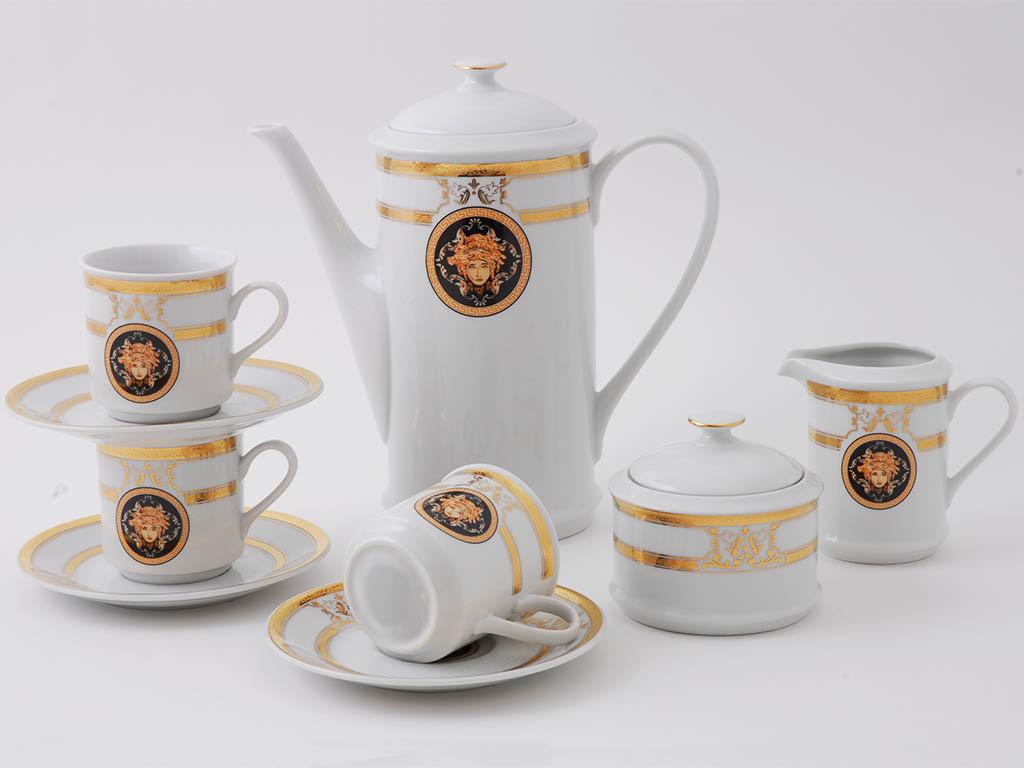 Фото Сервиз кофейный Леандер 15 предметов на 6 персон, чашки 150 мл, Форма Сабина Венеция антик