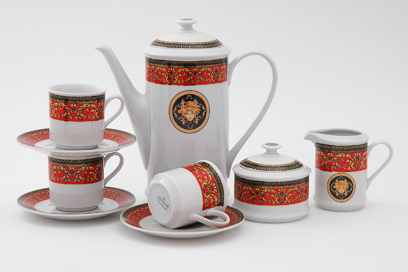 Фото Сервиз кофейный Леандер 15 предметов на 6 персон, чашки 150 мл, Форма Сабина Милан антик