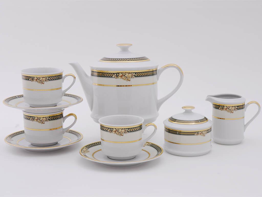 Фото Сервиз чайный 15 предметов, на 6 персон, Форма Сабина Фруктовый сад