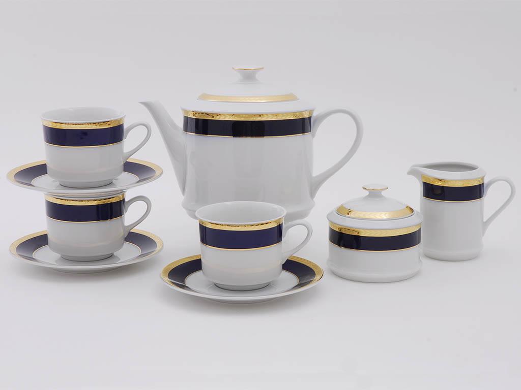Фото Сервиз чайный 15 предметов, на 6 персон, Форма Сабина Золотой колос