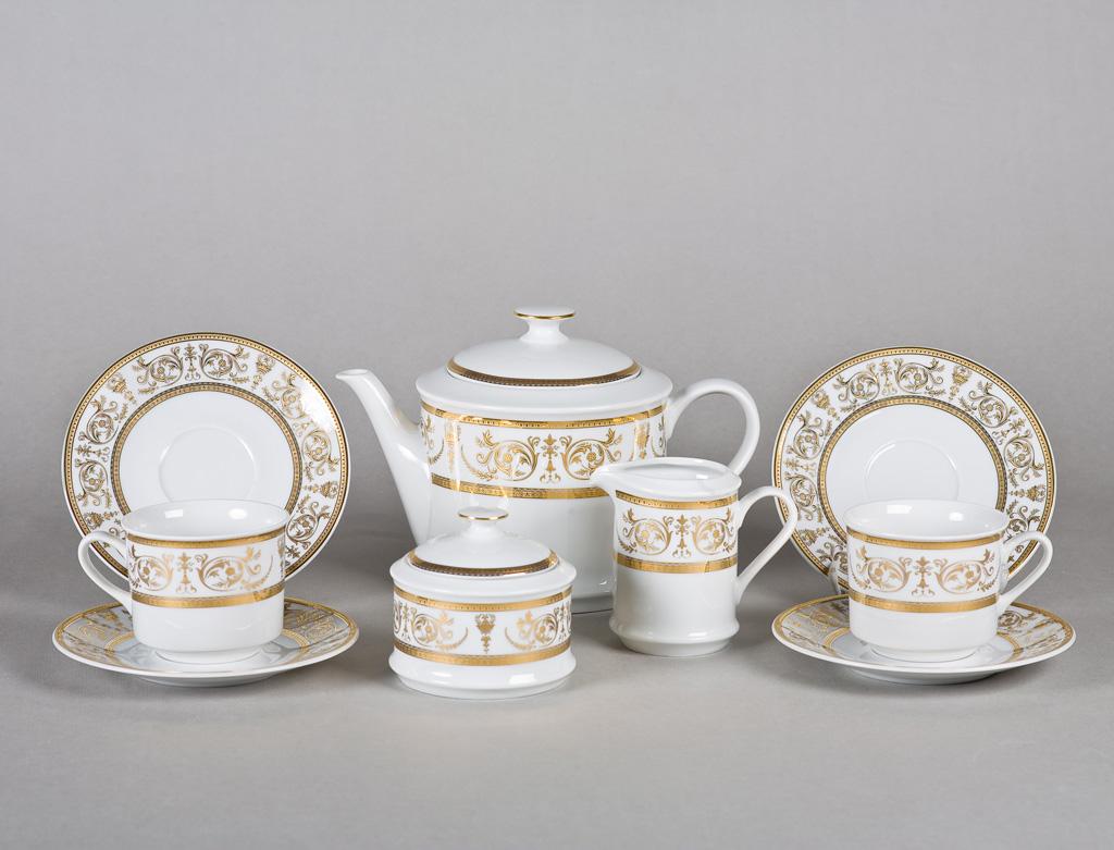 Фото Сервиз чайный 15 предметов, на 6 персон, Форма Сабина Королевский золотой