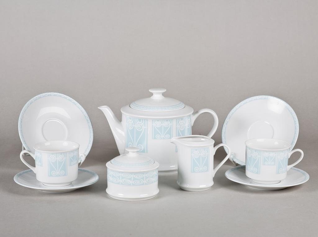 Фото Сервиз чайный 15 предметов, на 6 персон, Пастель, Форма Сабина Витраж