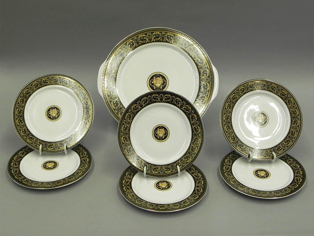 Фото Набор для торта Леандер 7 предметов на 6 персон, с десертной тарелкой 17 см, Форма Сабина Флоренция антик