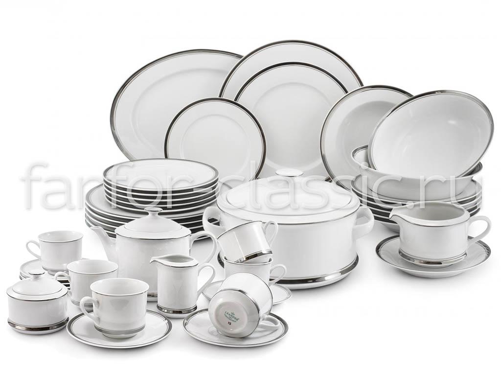 Фото Сервиз чайно-столовый Айсберг 40 предметов на 6 персон, Леандер Форма Сабина