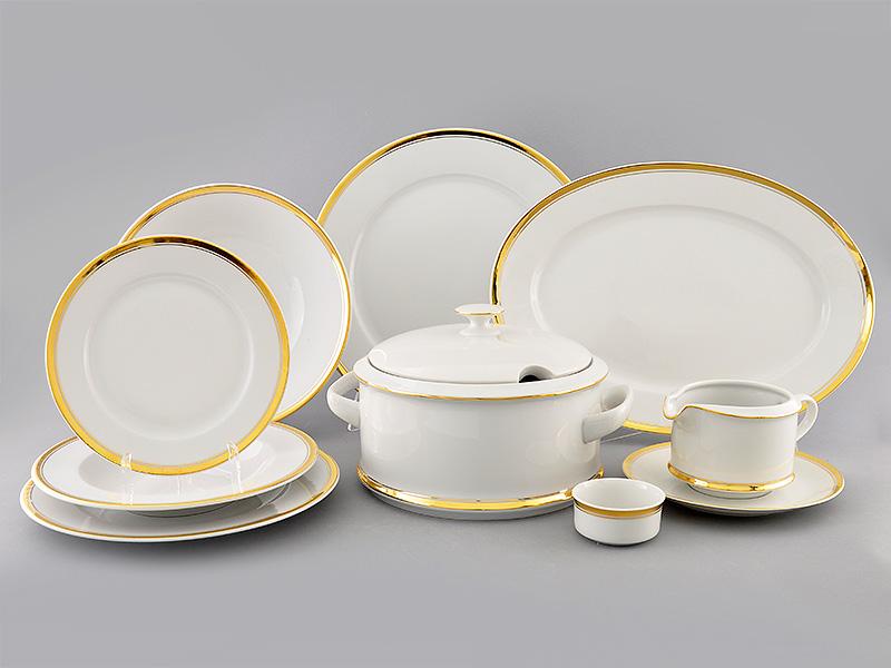 Фото Сервиз столовый Леандер 25 предметов на 6 персон, Форма Сабина Золотая лента