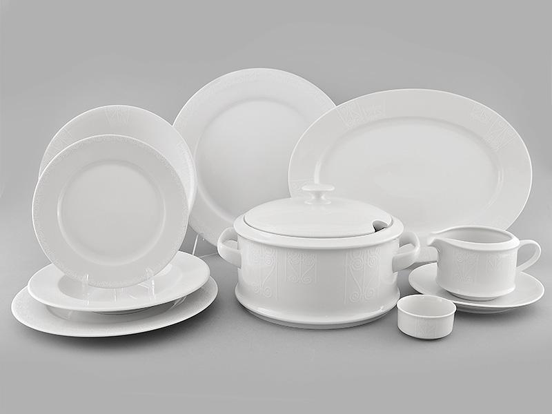 Фото Сервиз столовый 25 предметов, на 6 персон, белый, Форма Сабина Витраж
