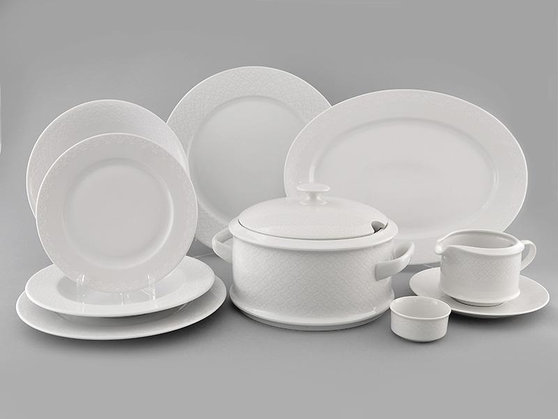 Фото Сервиз столовый Леандер 25 предметов на 6 персон, Форма Сабина Белая лилия