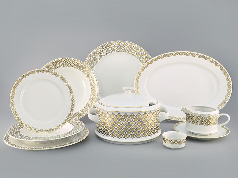 Фото Сервиз столовый Леандер 25 предметов на 6 персон, Форма Сабина Золотая лилия