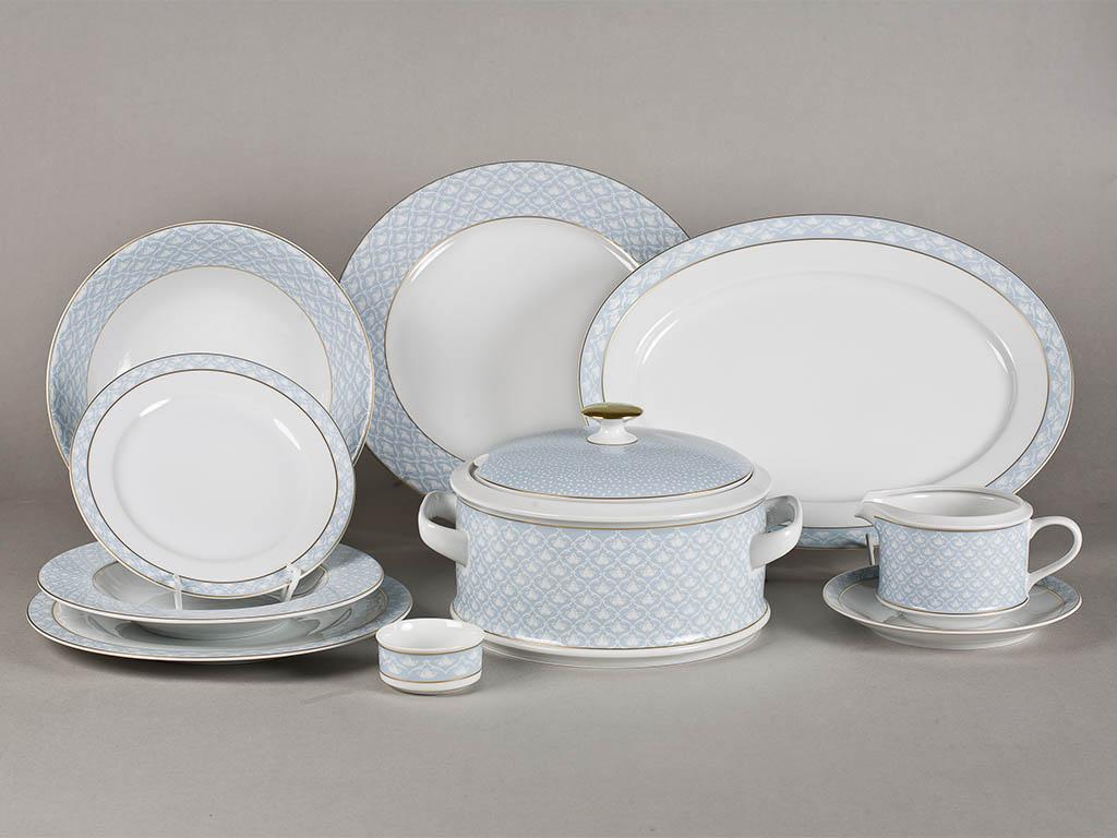 Фото Сервиз столовый Леандер 25 предметов на 6 персон, Форма Сабина Голубая лилия