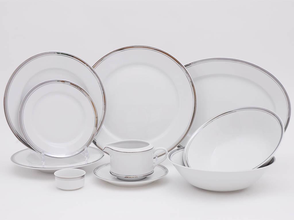 Фото Сервиз столовый Леандер 24 предмета на 6 персон, без супницы, Форма Сабина Айсберг