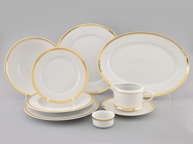 Фото Сервиз столовый Леандер 24 предмета на 6 персон, без супницы, Форма Сабина Золотая лента