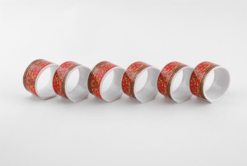 Фото Набор колец для салфеток 6 шт, Форма Сабина Милан