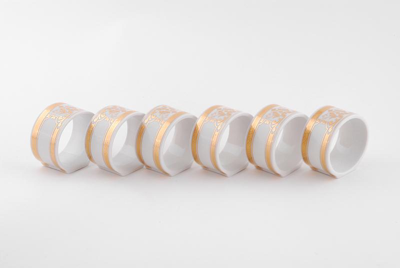 Фото Набор колец для салфеток 6 шт, Форма Сабина Венеция антик