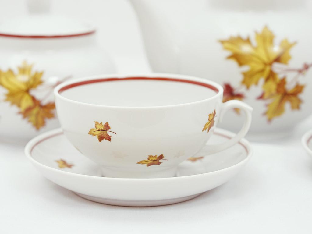 Фото Сервиз чайный Дулево Рубин Осень, 14 предметов