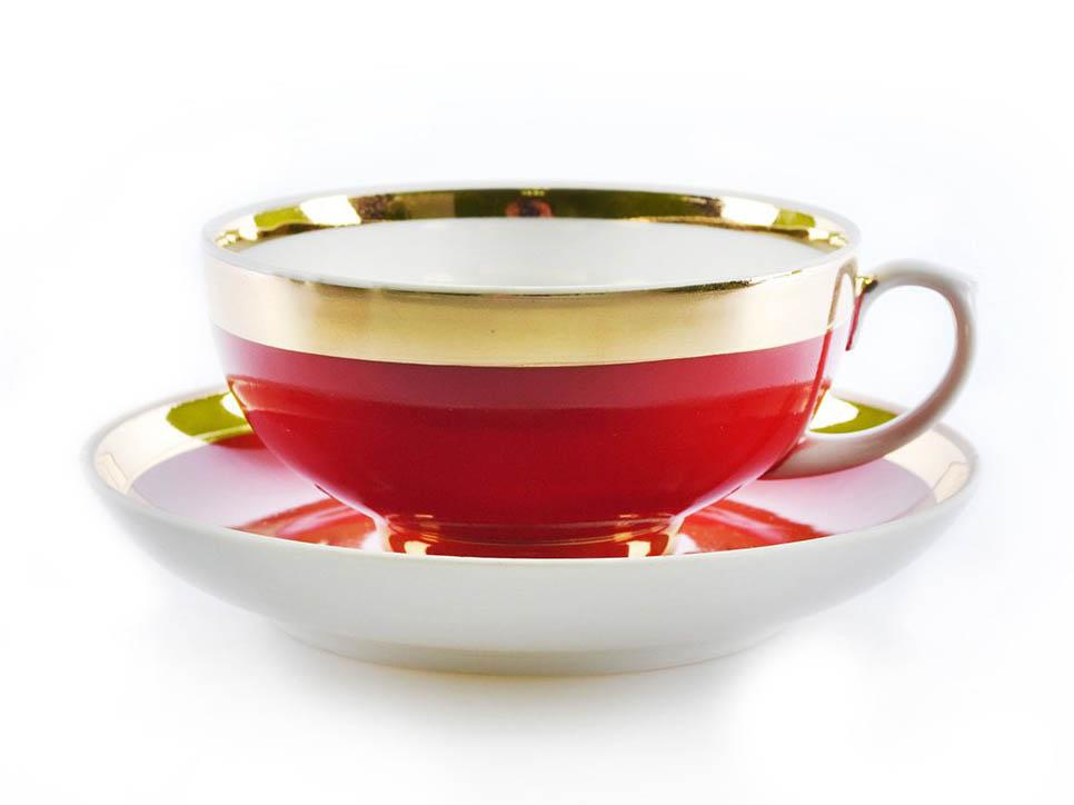Фото Чашка чайная с блюдцем 220 мл Рубин Рубин