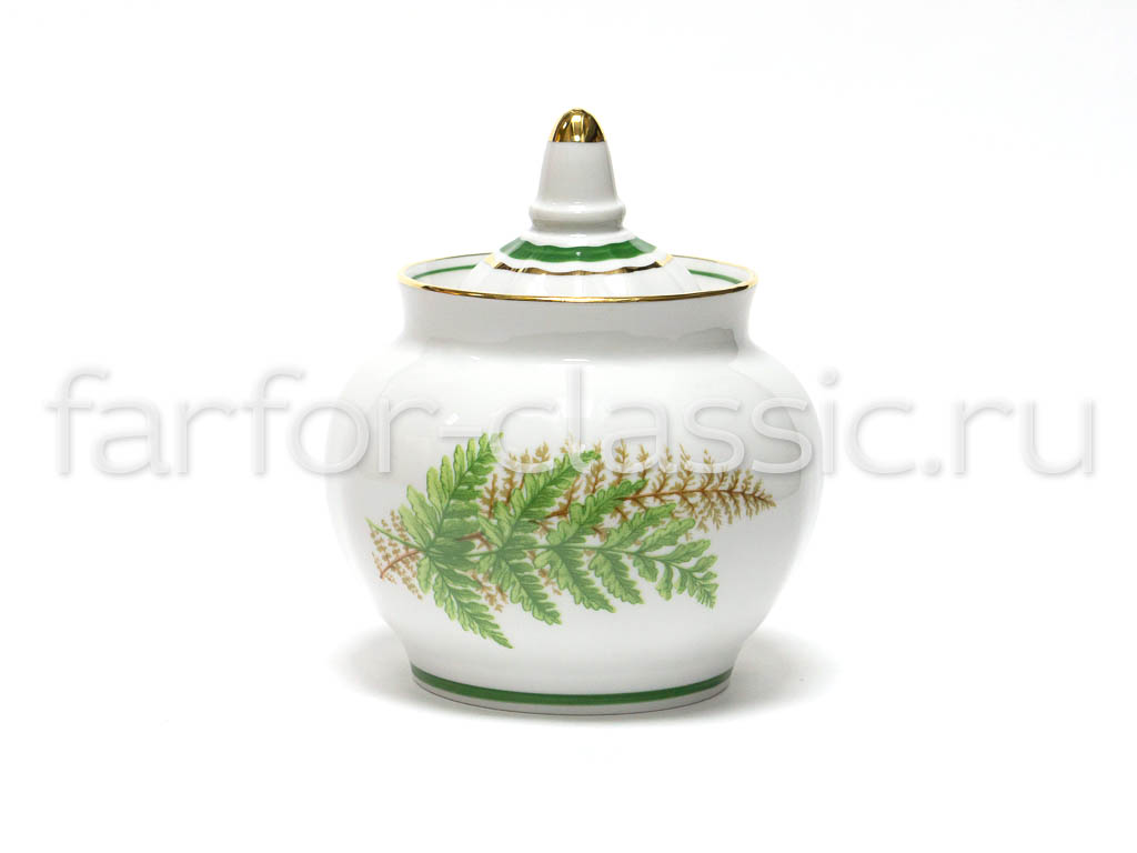 Фото Сервиз чайный Дулево Гранатовый Папоротник, 20 предметов