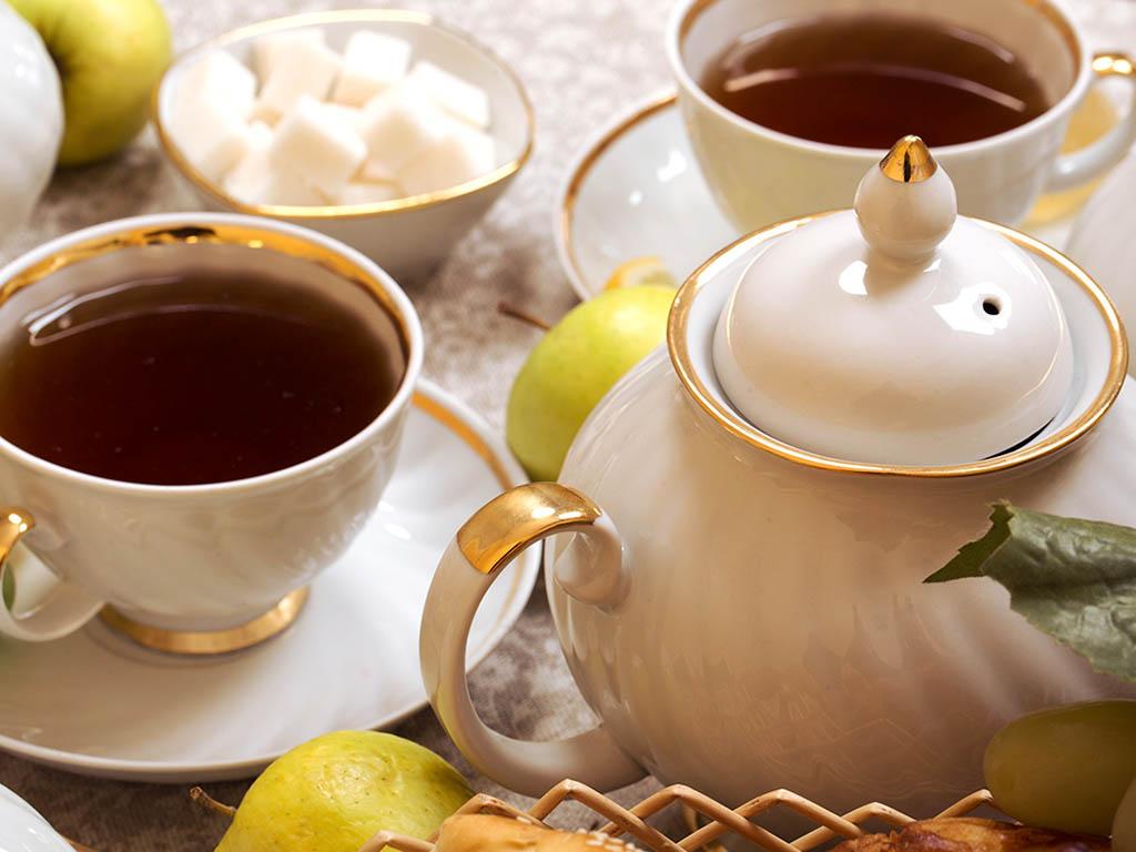 Фото Сервиз чайный Дулево Голубая роза Московский, 15 предметов