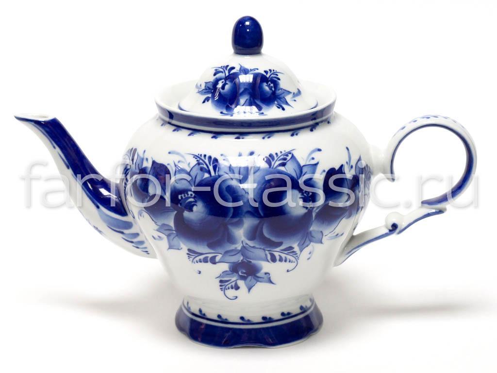 Фото Сервиз чайный Агат Гжель, 15 предметов на 6 персон