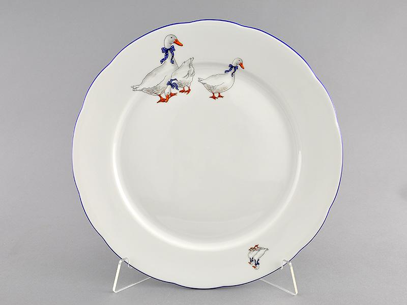 Фото Блюдо круглое мелкое 30 см Форма Мэри-Энн Чешские гуси