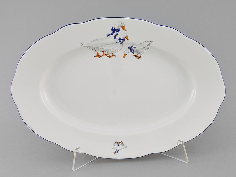 Фото Блюдо овальное 36 см Форма Мэри-Энн Чешские гуси