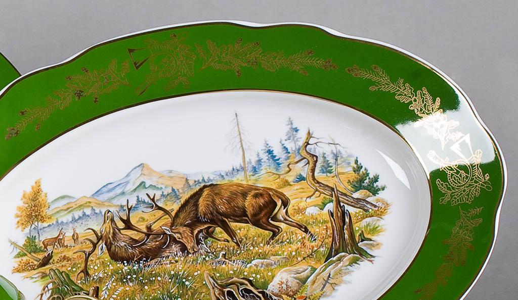 Фото Блюдо овальное 23 см Форма Мэри-Энн Охотничий изумрудный
