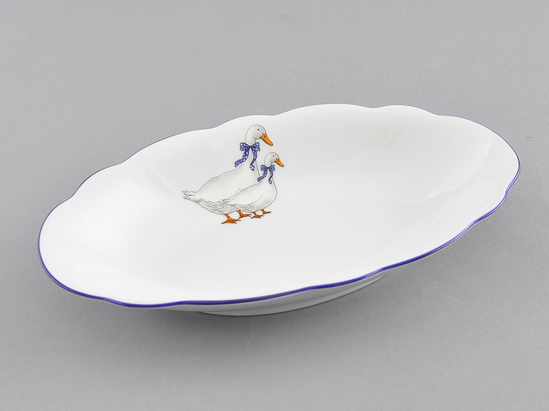Фото Блюдо овальное 23 см Форма Мэри-Энн Чешские гуси