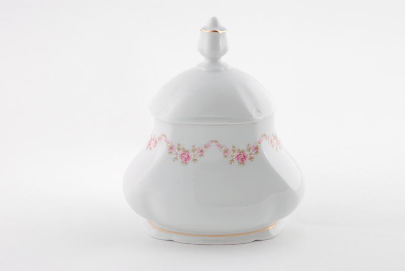 Фото Шкатулка для чайных пакетиков 650 мл, Форма Соната Розовый бордюр
