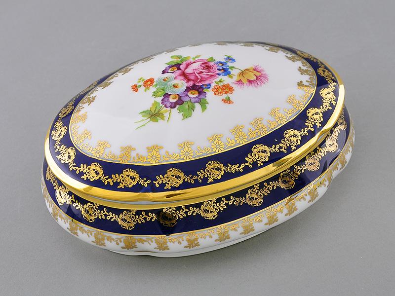 Фото Шкатулка овальная 19 см Форма Мэри-Энн Роскошный букет