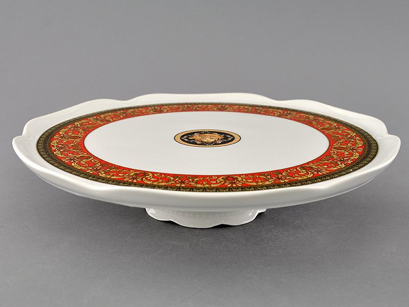 Фото Тарелка для торта на ножке 28 см Форма Сабина Милан антик