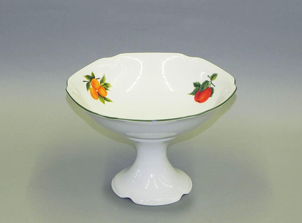 Фото Ваза для фруктов на ножке 23 см Форма Мэри-Энн Фрукты