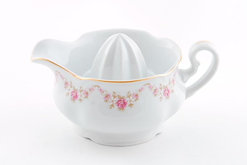 Фото Отжим для лимона Форма Соната Розовый бордюр