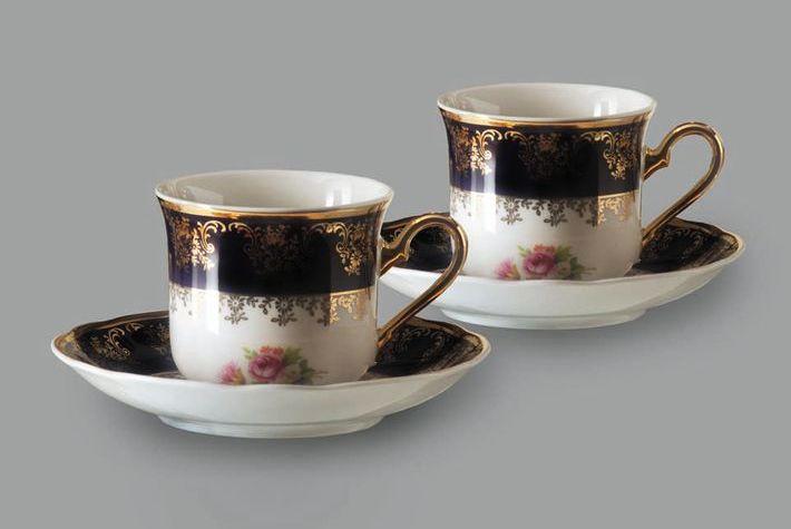 Фото Набор из двух чайных пар 200 мл, Форма Мэри-Энн Роскошный букет