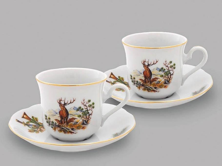 Фото Набор из двух чайных пар 200 мл, Форма Мэри-Энн Охотничий
