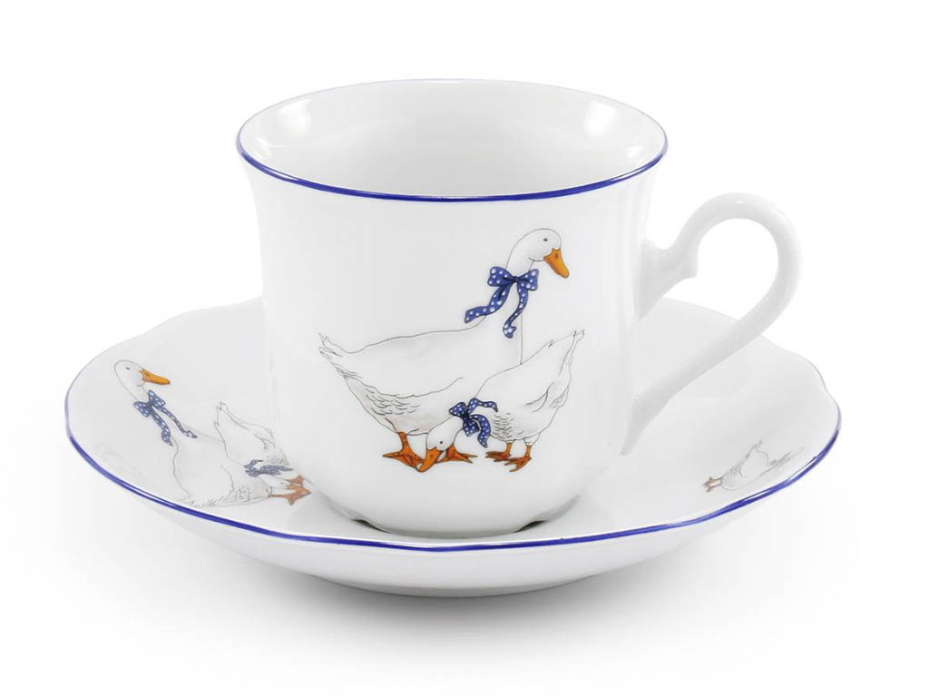 Фото Набор из двух чайных пар 200 мл, Форма Мэри-Энн Чешские гуси