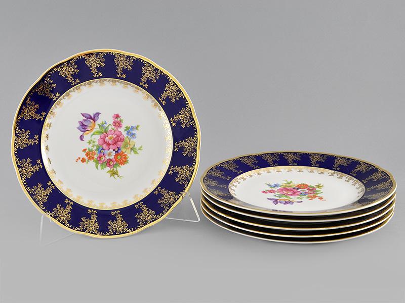 Фото Набор мелких тарелок 25 см 6 шт, Форма Мэри-Энн Роскошный букет