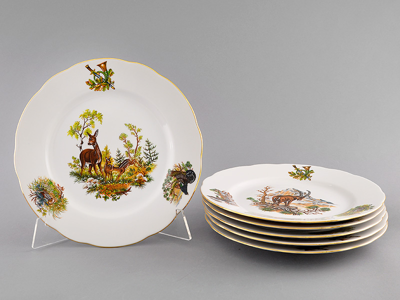 Фото Набор мелких тарелок 25 см 6 шт, Форма Мэри-Энн Охотничий