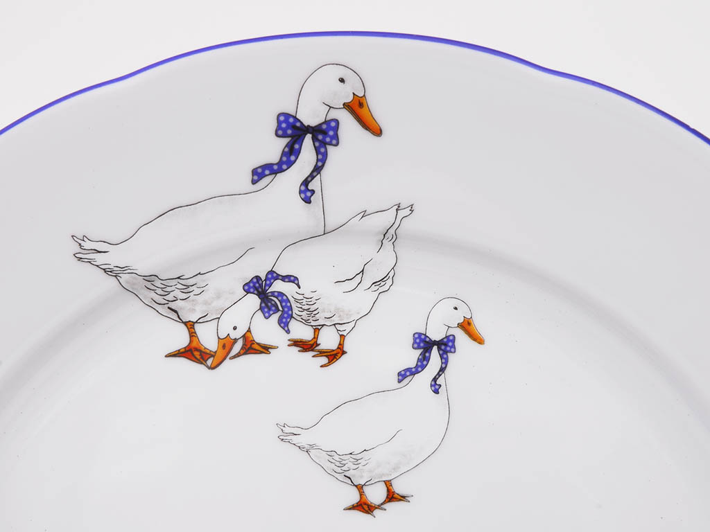 Фото Набор мелких тарелок 25 см 6 шт, Форма Мэри-Энн Чешские гуси