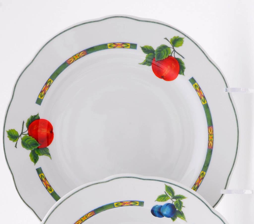 Фото Набор мелких тарелок 25 см 6 шт, Форма Мэри-Энн Фрукты
