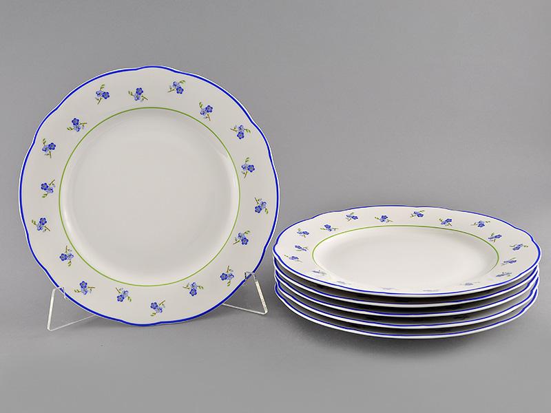 Фото Набор мелких тарелок 25 см 6 шт, Форма Мэри-Энн Незабудки