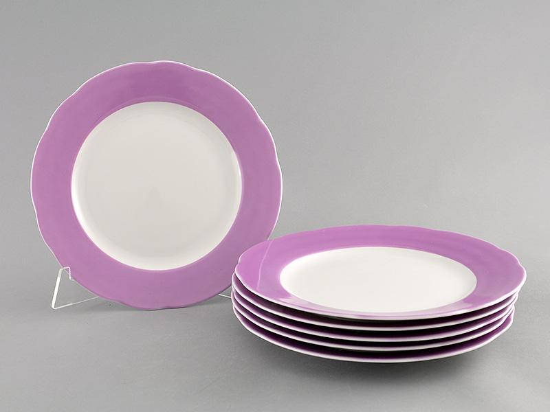 Фото Набор мелких тарелок 25 см 6 шт, Форма Мэри-Энн Майская сирень