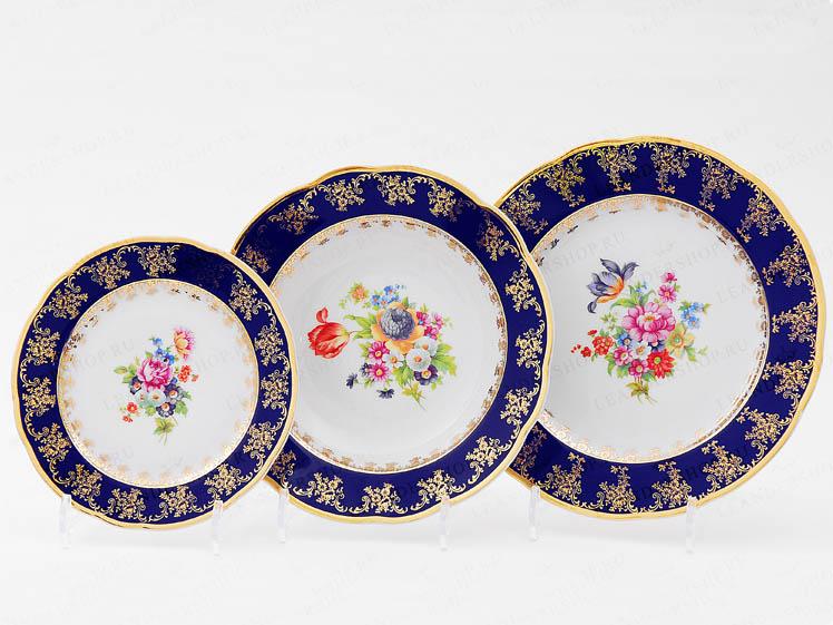 Фото Набор тарелок 18 шт на 6 персон, Форма Мэри-Энн Роскошный букет